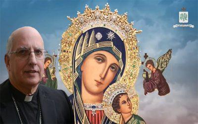 Mons. Olivera   Que Ntra. Sra. del Perpetuo Socorro nos ayude en este tiempo, frente a la pandemia a rezar y confiar en el plan de Dios